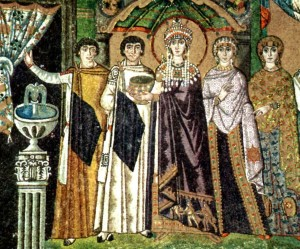 theodora and her court attendants