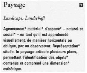 description d un paysage naturel