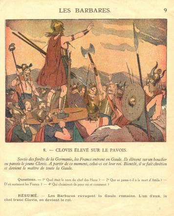 L Image De Clovis Et Des Merovingiens Dans Les Manuels