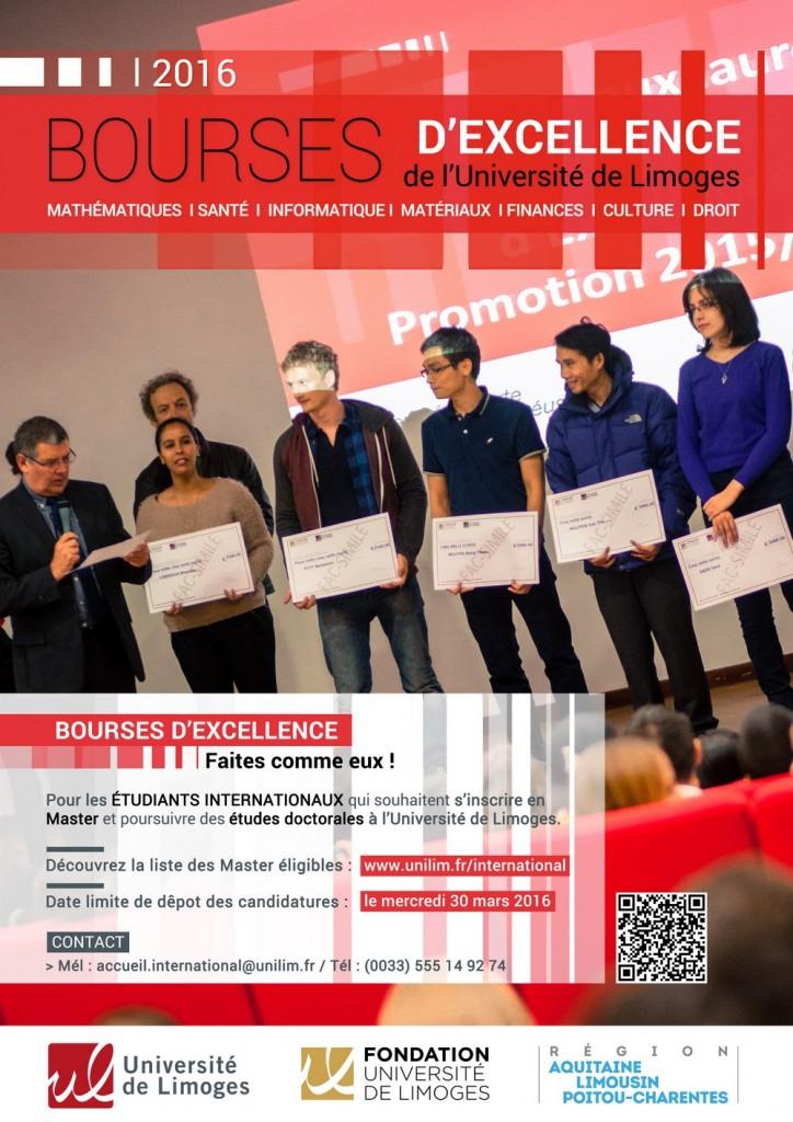 Affiche Bourses Excellence 2016 FR