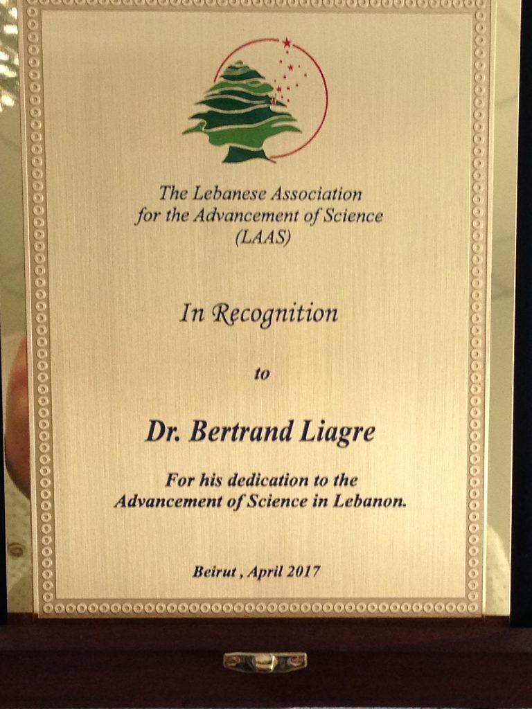 Bertrand Liagre Liban Université Limoges
