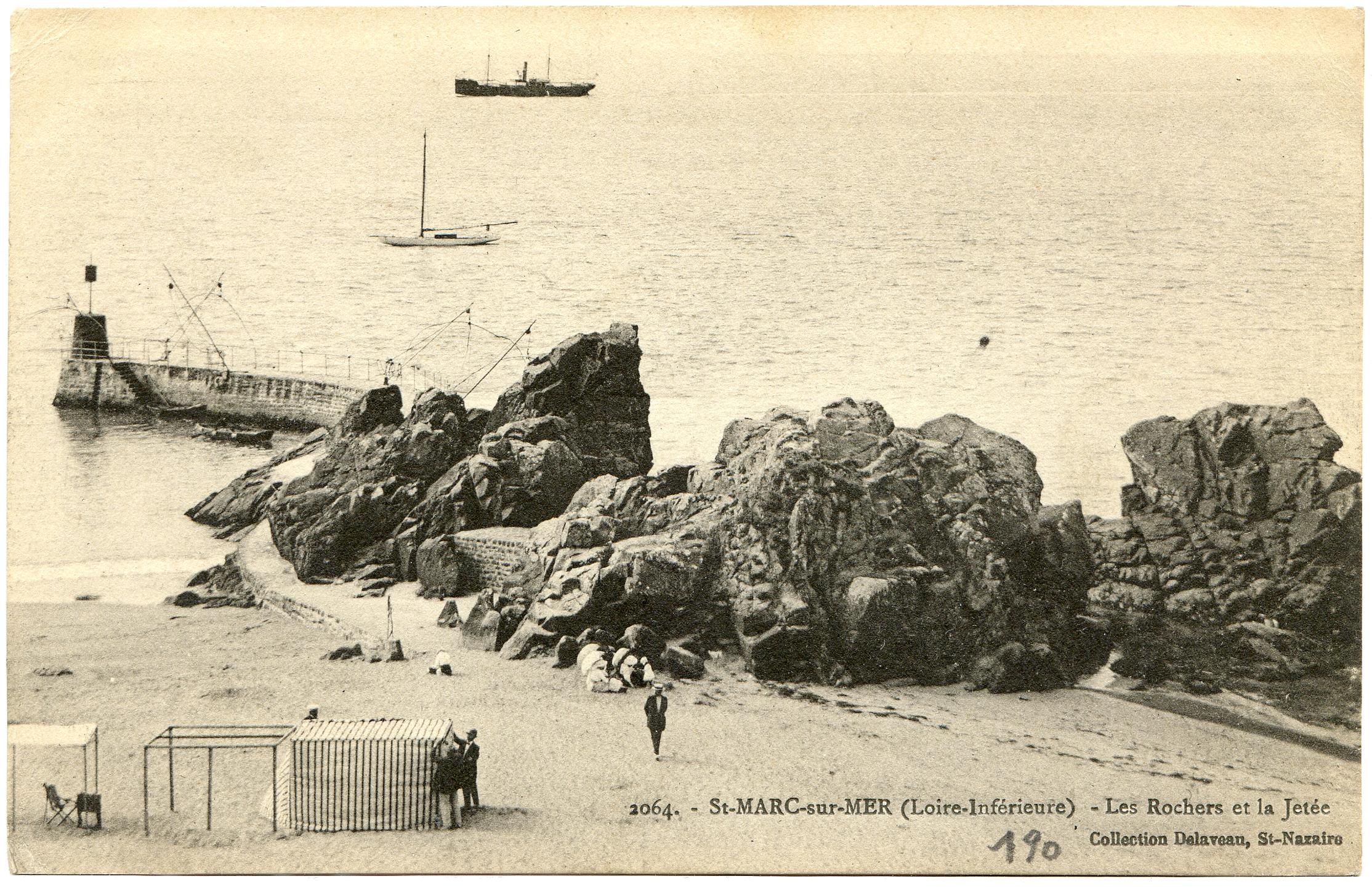 St marc sur mer loire inf rieure les rochers et la jet e - Cristaux de soude saint marc ...