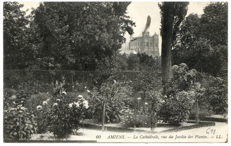Amiens la cath drale vue du jardin des plantes - Jardin des plantes amiens ...