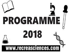 Programmation Récréasciences 2018