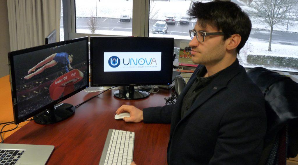 Simon Parre, co-fondateur de la start-up UNOVA
