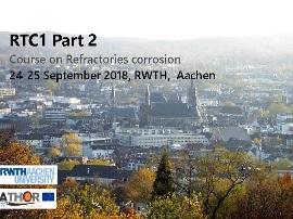 ATHOR: formation sur la corrosion des matériaux réfractaires
