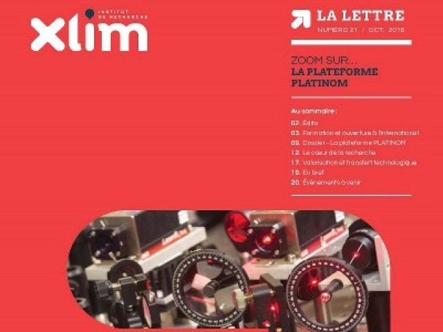 La nouvelle lettre d'XLIM est publiée