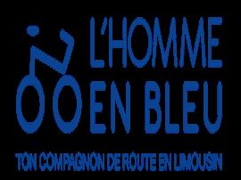 L'homme en bleu s'intéresse aux chercheurs de l'Université de Limoges !