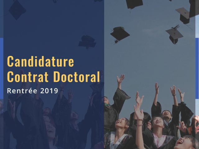 Candidature Contrat Doctoral