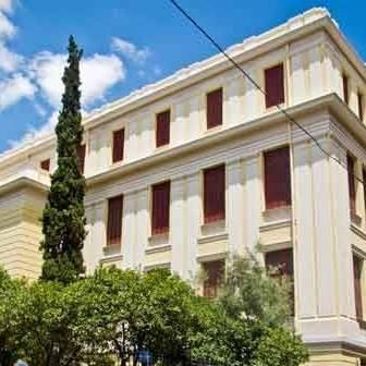 La bibliothèque de la Faculté de Droit à Athènes