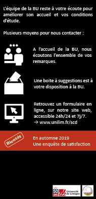 Communications avec les BU de Limoges