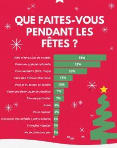 Activités des Français durant les fêtes de Noël - sources : Statista