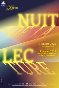 Affiche de la 3e édition de la Nuit de la lecture 2020