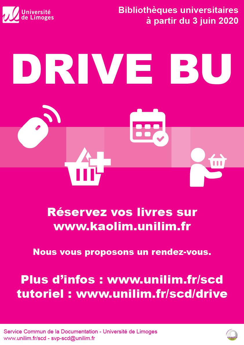 Affiche du service de drive