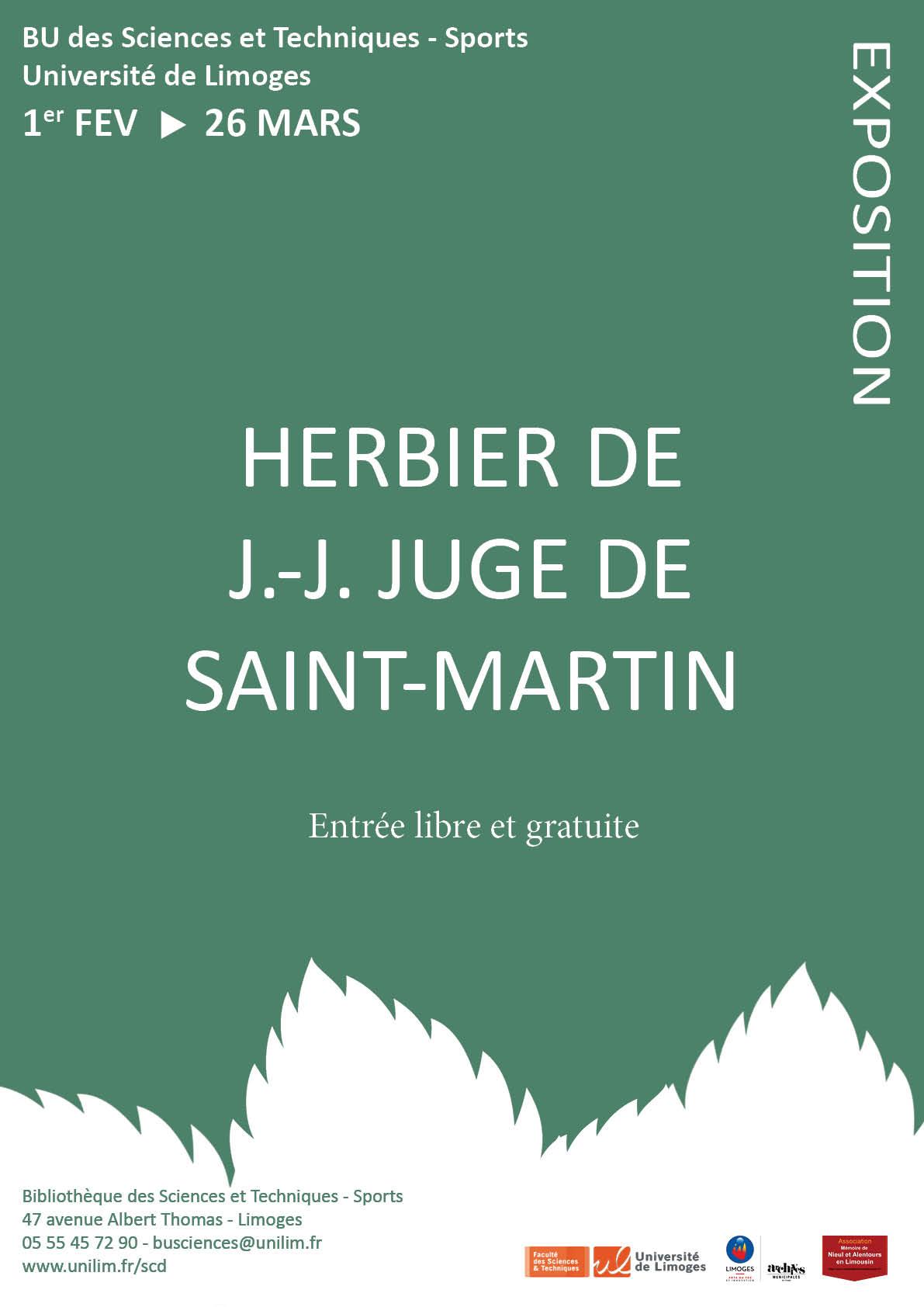 Affiche - herbier de JJ Juge de Saint-Martin