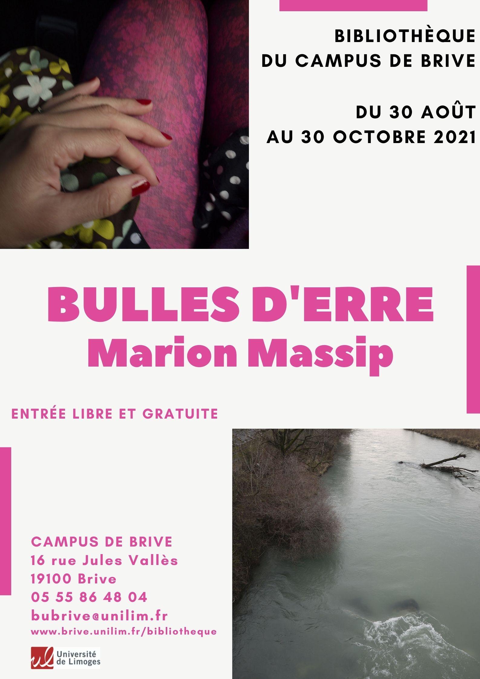 Exposition Bulles d'erre de Marion Massip