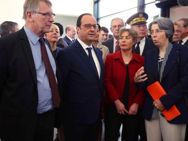 François Hollande à l'université de Limoges