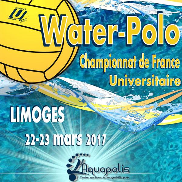 CHAMPIONNAT DE FRANCE UNIVERSITAIRE de Water-polo Université de Limoges 22 23 mars 2017