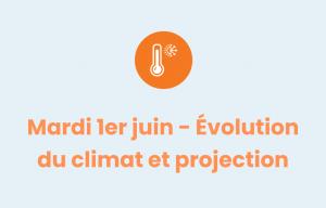 Pictogramme évolution du climat et projection